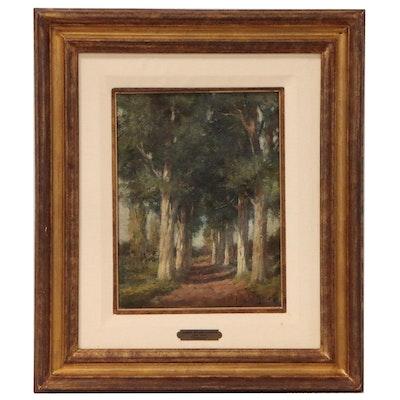"""Jacques Stephan Witjens Landscape Oil Painting """"Arboles"""""""