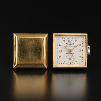 Vintage Sheffield Gold Tone Cuff link Watch