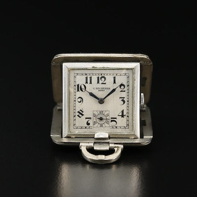 Vintage Bucherer Stem Wind Purse Watch