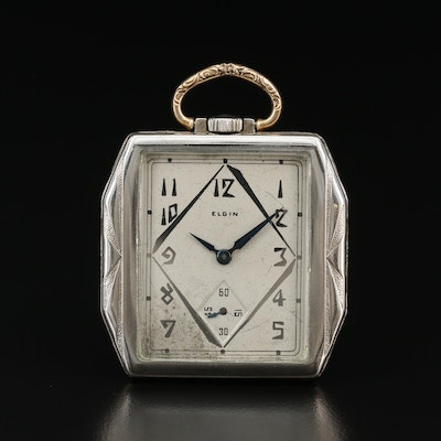 1928 Elgin 14K Gold Filled Open Face Pocket Watch