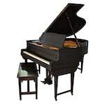 Baldwin Ebonized Baby Grand Piano, 1925