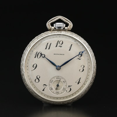 1929 E. Howard Gold Filled Open Face Pocket Watch