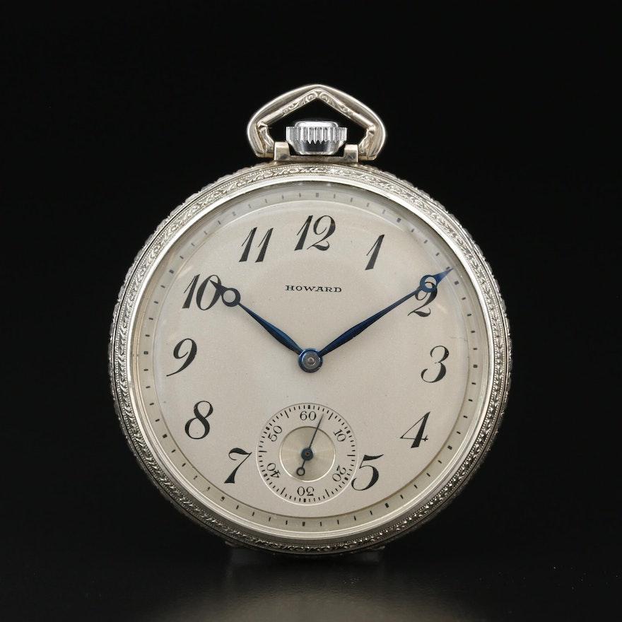 1929 E. Howard Gold Filled Open Face Pocket Watch