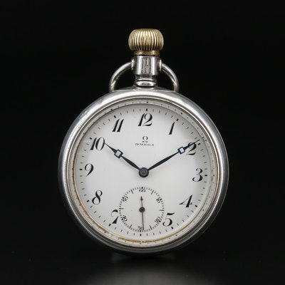 1915 Omega 900 Silver Open Face Pocket Watch