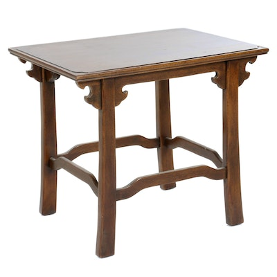 Chinese Hardwood End Table, Late 20th Century