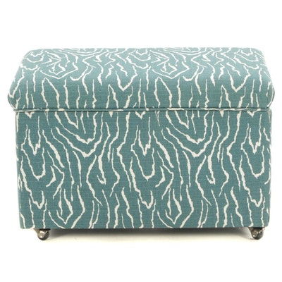 "Ballard Designs ""Preston"" 30 Inch File Storage Upholstered Bench"
