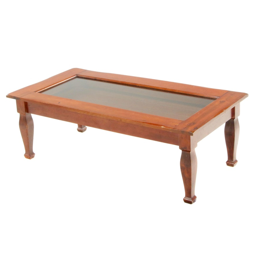 Pine Framed Display Coffee Table