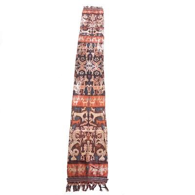 Men's Indonesian Sumbese Single-Panel Hinggi Ikat Textile Wrapper