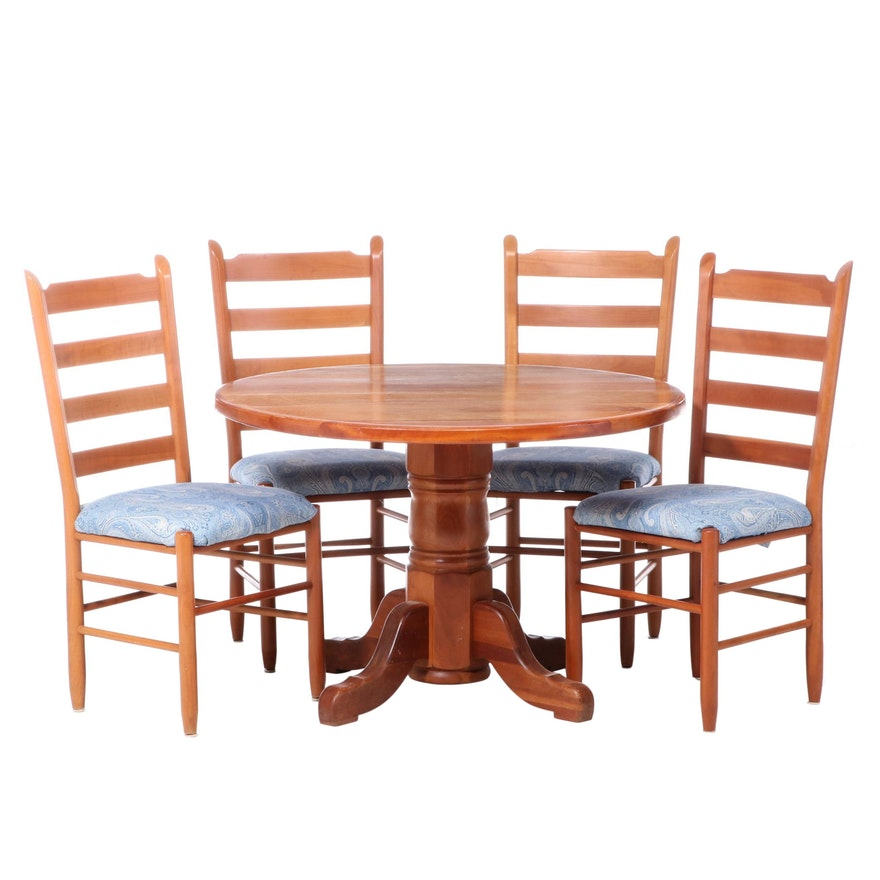 Five-Piece Cherrywood Dining Suite, 20th Century