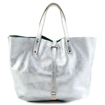 Tiffany & Co. Silver Metallic Tote