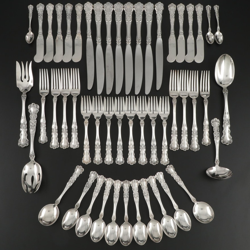 """Gorham """"Buttercup"""" Sterling Silver Flatware, Early to Mid 20th Century"""