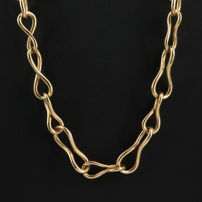 Angela Cummings 18K Twisted Infinity Link Necklace