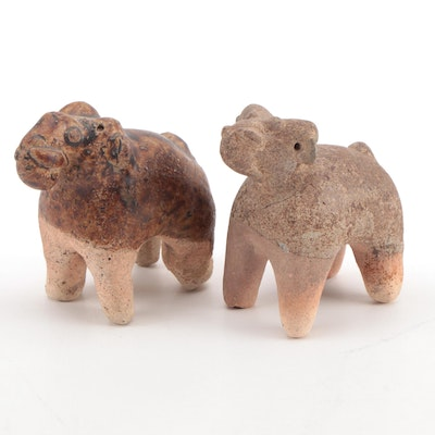 Thai Phan Ware Elephant Figurines, 15th–16th Century