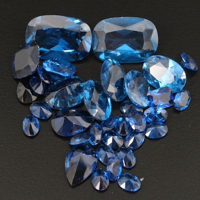 Loose 102.58 CTW Lab Grown Spinels