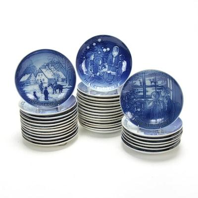 Bing & Grøndahl Copenhagen Porcelain Christmas Collectors Plates, 1965-1998