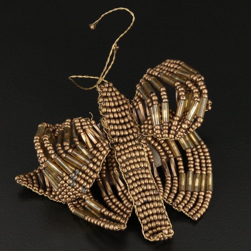 Hoss Intropia Beaded Insect Brooch