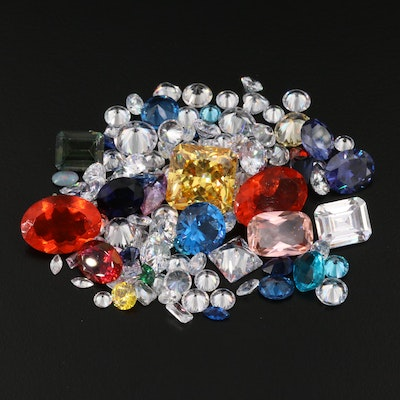 Loose Gemstone Selection Including Cubic Zirconia and Spinel