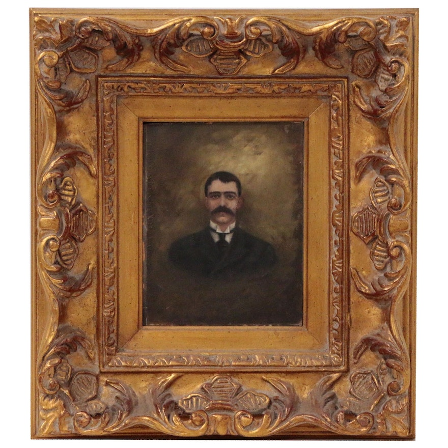 Portrait Oil Painting of a Man, Early 20th Century