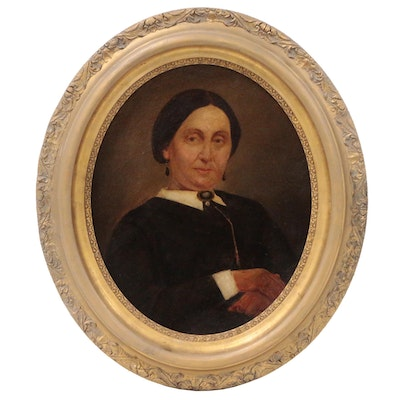 "Portrait Oil Painting ""Mrs. Goldman, Cincinnati"", Late 19th Century"