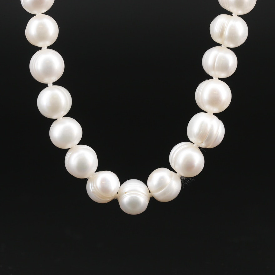 Endless Semi-Baroque Pearl Necklace