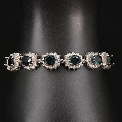 14K 18.65 CTW Sapphire and 3.15 CTW Diamond Bracelet