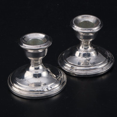 Revere Silversmiths Weighted Sterling Candlesticks, Early to Mid 20th Century