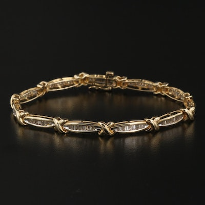 10K Gold 2.57 CTW Diamond Bracelet
