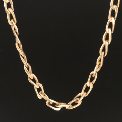 14K Curb Chain Necklace