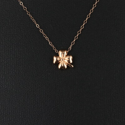 14K Clover Pendant Necklace