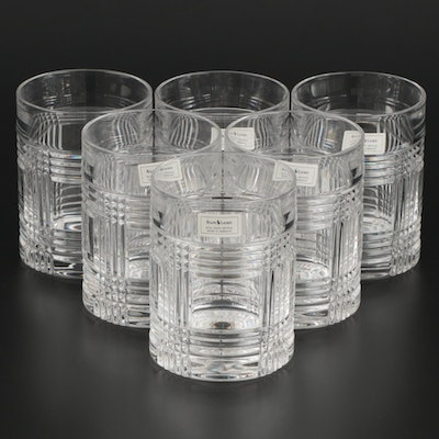 "Ralph Lauren ""Glen Plaid"" Crystal Old Fashioned Glasses"