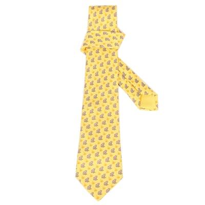 Hermès Paris 7257 MA Hand-Stitched Silk Necktie