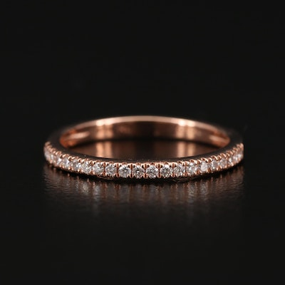 14K Rose Diamond Band