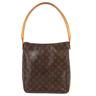 Louis Vuitton Looping PM Shoulder Bag in Monogram Canvas and Vachetta Leather