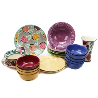 Fioriware Pottery Dinnerware, Handcrafted Vase and Other Ceramic Dinnerware