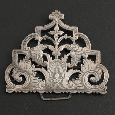 G. E. Walton & Co. Ltd. of Birmingham Sterling Silver Openwork Belt Buckle, 1898
