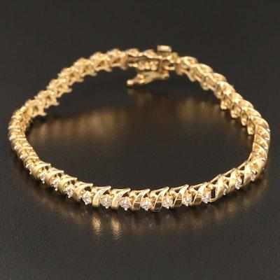 14K 2.75 CTW Diamond Bracelet