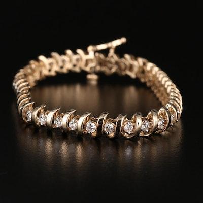 14K 2.05 CTW Diamond Line Bracelet