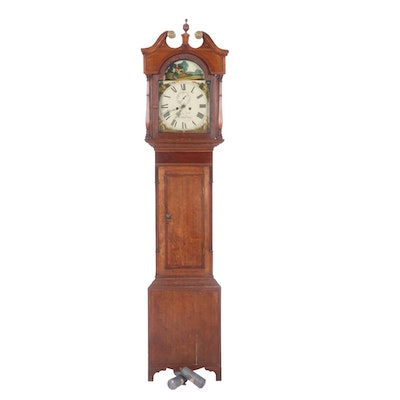 Federal Style Grandfather Clock by James Luke for Northallerton, Early 20th C.
