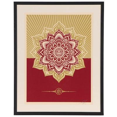 "Shepard Fairey Serigraph ""Holiday Mandala"", 2013"