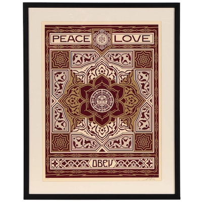 "Shepard Fairey Serigraph ""Peace & Love Ornament"", 2012"