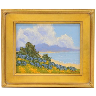 "Marc Graison Landscape Oil Painting ""Coastal Splendor"""