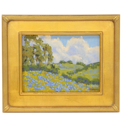 "Marc Graison Landscape Oil Painting ""Summer Blues"""