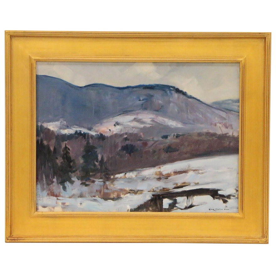 Charles Curtis Allen Impressionist Style Landscape Oil Painting, 20th Century