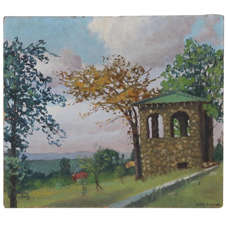Joseph De Gemma Oil Painting of Park Scene