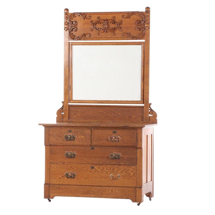 New England Furniture Co. Oak Dresser