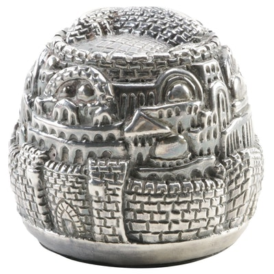 Jerusalem Sterling Silver Sculptural Paperweight