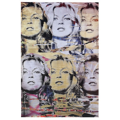 Offset Poster Print of Kate Moss after Mr. Brainwash
