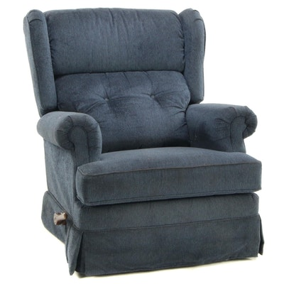 Upholstered Manual Recliner Lounge Chair