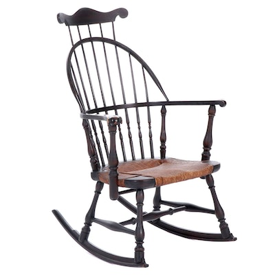 Comb-Back Windsor Rocking Chair, Early 20th Century