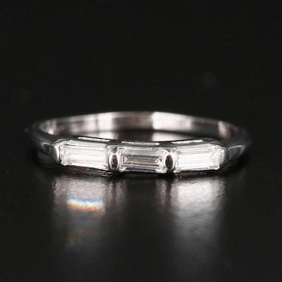 14K Three Stone Diamond Band